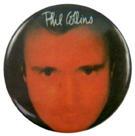 Phil Collins - 'No Jacket Required' Button Badge